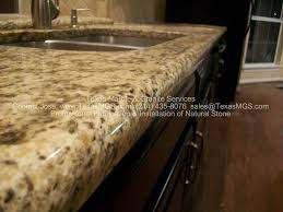 countertops kitchen new venetian gold demi bullnose mckinney