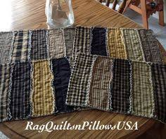 Christmas Placemats - Set 4 - Homemade Quilted Placemats - Rag ... & Black Homespun Quilted Placemats, Rag Strip Placemats, Country Table  Toppers, Quilted Placemats, Primitive Placemats, Homemade Placemats Set Adamdwight.com