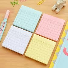 Post It Memo Pad Planner Paper Line Kraft Stationary Office School