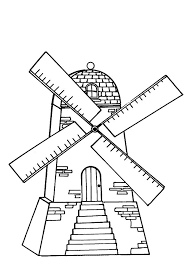 Dutch Windmill Coloring Pages