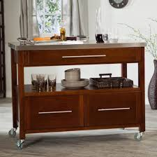 kitchen island table with storage. Wooden Portable Kitchen Island With Storage Drawers On Wheels Table
