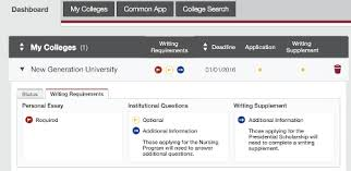 biggest changes to the common application college  common application dashboard