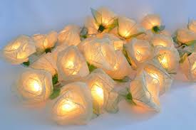 Flower Lights For Bedroom Amazon Com White Rose Flower Lights For Bedroom And Wedding