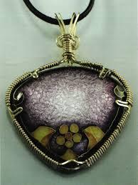 purple gold cloisonne pendant gold cloisonné three wires bail on top whole