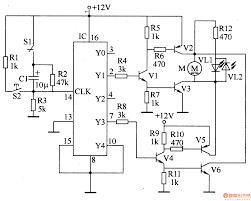 Electric curtain controller control circuit diagram led blink circuit circuit board schematic symbols