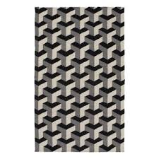 rug black and white. paloma handmade black/gray area rug black and white