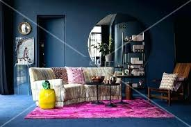 pink rugs for living room hot pink rug and large round mirror in dark blue living room pink area rug living room pink living room area rugs