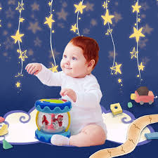 markkeer baby al toy carousel drum activity center with lights sounds and early educational toys for infants and toddlers aged 6 months