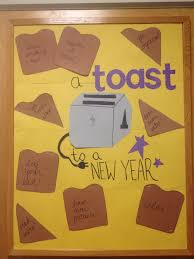 ra bulletin boards a toast to a new year january ra bulletin board resident assistant