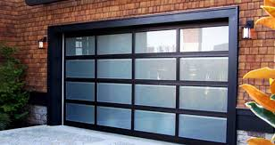 Lovely Modern Glass Garage Doors Modern Classic MC44 Dark Bronze Anodized  Satin Etch Glass Resized 2000x1062 Home Design Ideas