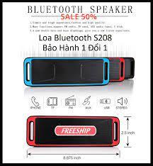 Loa Nghe Nhạc Bluetooth Loa Di Động Mini S208 Cao Cấp Âm Thanh Sôi Động Rõ  Ràng Chất Lượng Cao - BH 12 Tháng