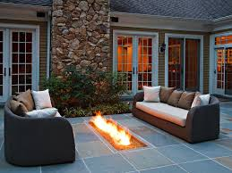 Covered patio with fire pit Hot Tub Design Shop This Look Hgtvcom Outdoor Fire Pits And Fire Pit Safety Hgtv