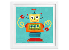 robot wall art robot 9 wall art whimsical robot leearthaus on robot nursery wall art with robot wall art robot 9 wall art whimsical robot art modern