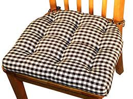 good amazon barnett s dining chair pad with ties checkers check reversible latex foam fill tufted seat cushion blacktan with dining chair cushions
