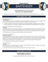 Bartender Duties For Resume Amazing Resume Examples Templates Easy