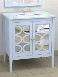 Here`s a pretty idea, if you love the look of a mirrored vanity, but don`t  want the work, why not go dramatic and add a mirrored cabinet like this  show ...