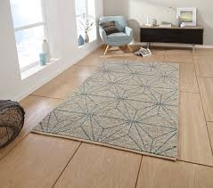 hand knotted zig zag cube geometric rug alpha