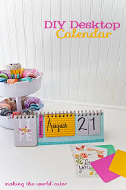 diy desktop calendar using elements from als made easy kits
