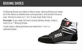 reebok boxing boots. size chart reebok boxing boots