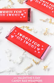 Now go and print off my free printable candy bar wrapper and have fun with this idea. Free Printable V Day Candy Bar Wrappers The Crafted Life