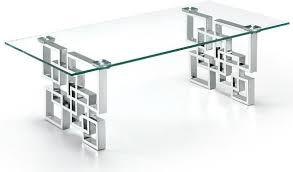 alexis chrome coffee table glass top