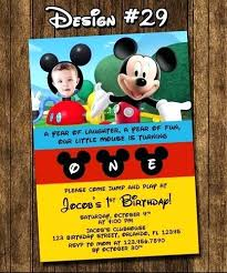 Make Your Own Mickey Mouse Invitations Mickey Mouse Clubhouse Birthday Invitation Printable Invites