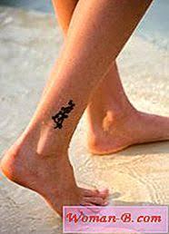 Elegantní Malé Tetování Na Kotník
