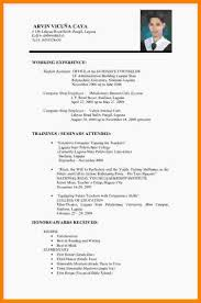 Sample Curriculum Vitae For Job Application 15 Sample Of Curriculum Vitae For Job Application Wine Albania