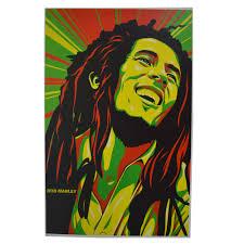 Rasta Smiling Bob Marley Poster