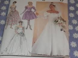 Simplicity Wedding Dress Patterns Enchanting SIMPLICITY 48 MISSES BRIDAL BRIDESMAIDS WEDDING DRESS PATTERN
