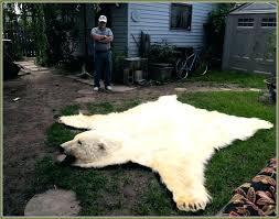 fake bear skin rug faux fur brown tip arctic wolf pelt hide throw