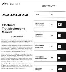 2006 hyundai sonata electrical troubleshooting manual original 2004 Hyundai Sonata Electrical Harness 2006 hyundai sonata electrical troubleshooting manual original table of contents 2004 hyundai sonata wiring harness