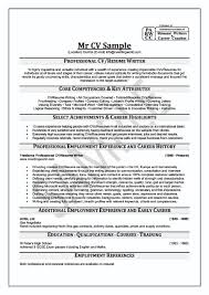 Writing A Professional Resume Cv Resume