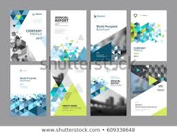 Brochure Annual Report Flyer Design Templates Stock Vector Royalty