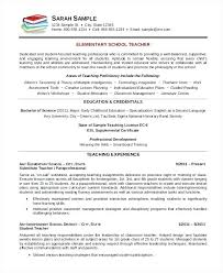 Elementary Teacher Resume Template Examples Of Teacher Resumes
