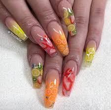 Pin by Mayda Diaz on Nail Art   Punk nails, Fruit nail art, Swag nails