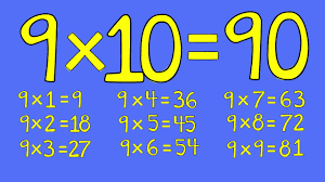 9 Times Table Fosse Primary School
