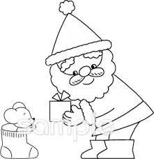 サンタクロース プレゼントイラストなら給食小学校幼稚園向け
