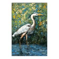 blue heron printed