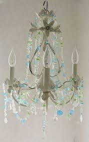 coastal decor lighting. Contemporary Coastal Seaglass Chandelier Beach Cottage Chic Coastal Decor Lighting Fixture  Antique White Intended U