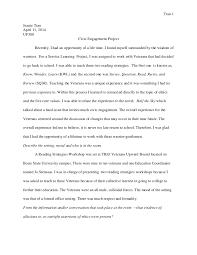civic engagement project essay