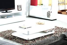 white hi gloss coffee table high tables with storage tiffany rectangular led lighting