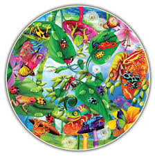 creepy critters round table puzzle erflies and insects shaped puzzle