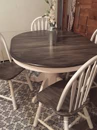Painted Kitchen Table Very Close To My Dining Room Table Refinished In Gray With