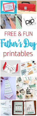 Free Diy Projects Diy Fathers Day Cards The Best Free Printable Paper Crafts Just