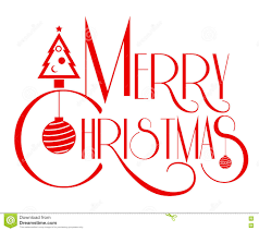 merry christmas text. Wonderful Text Merry Christmas Text Art Red Color Vector Illustration Use For To Text S