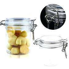 locking cookie jar kitchen faucets costco food storage iners spin lock airtight canisters round transpa high