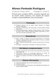 Corriculo Exemplo Pin Em Hosana