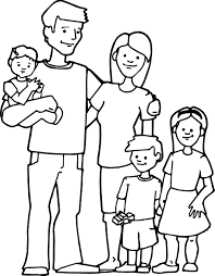 Awesome Family Kids Coloring Page Wecoloringpage Family Coloring
