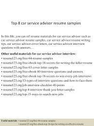 Automotive Service Consultant Cover Letter Sarahepps Com